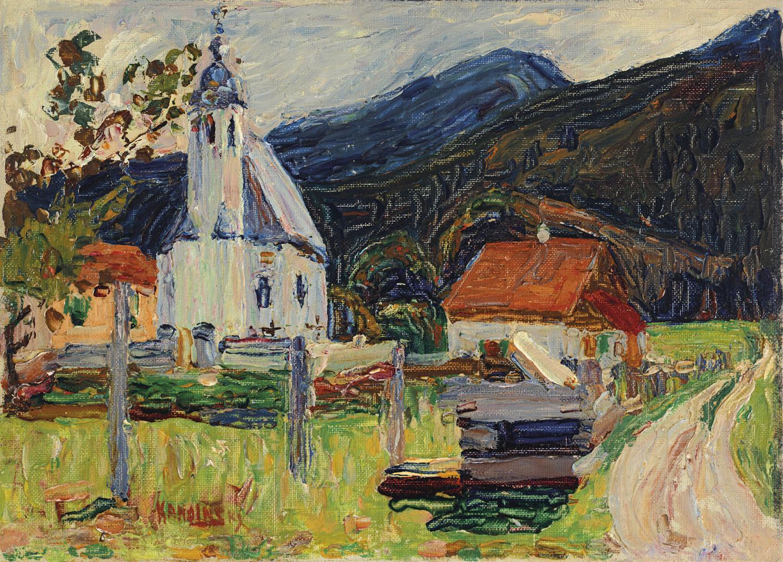 Wassily Kandinsky-Kochel—Dorfkirche-1902