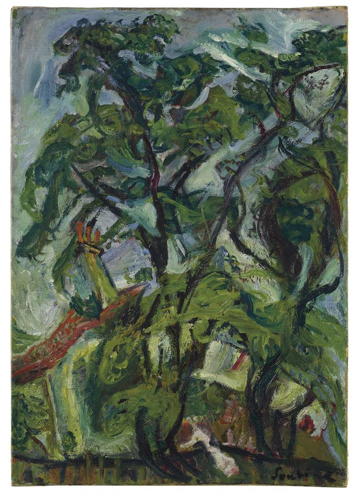 Chaim Soutine-Gourdon Sur Vence-1922