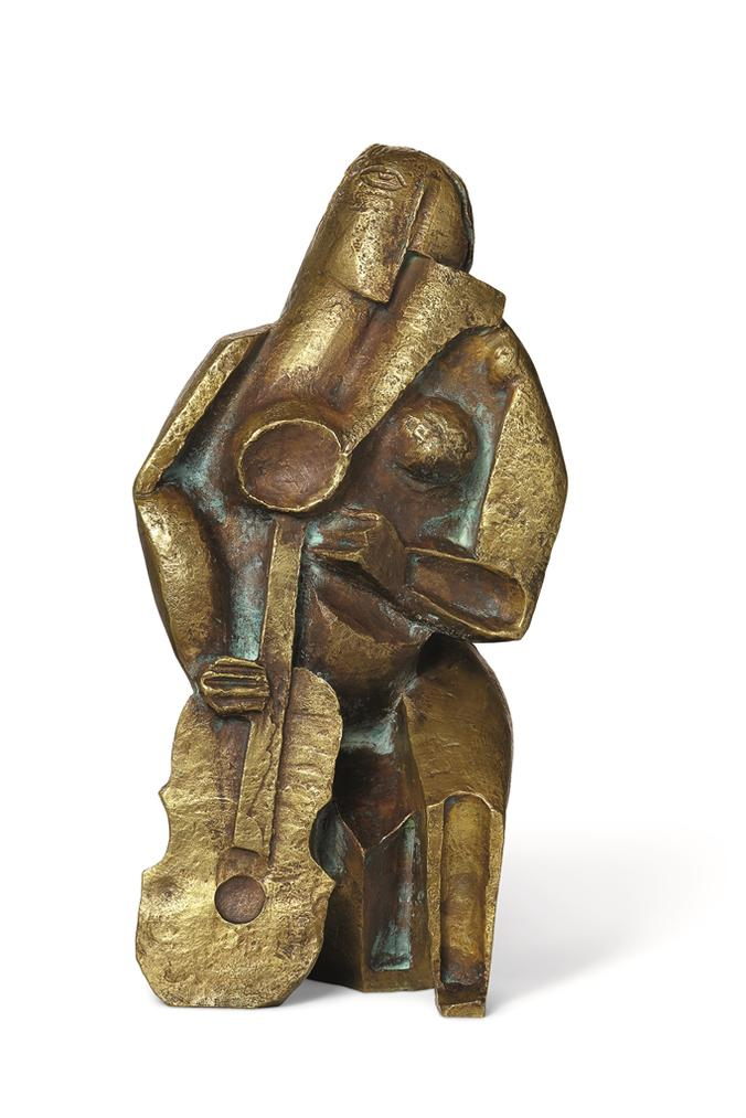 Ossip Zadkine-Femme Assise Au Luth-1925