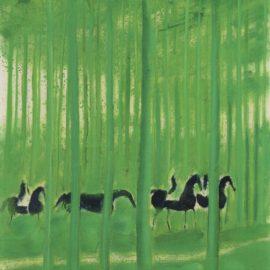 Andre Brasilier-Vert Printemps-1974