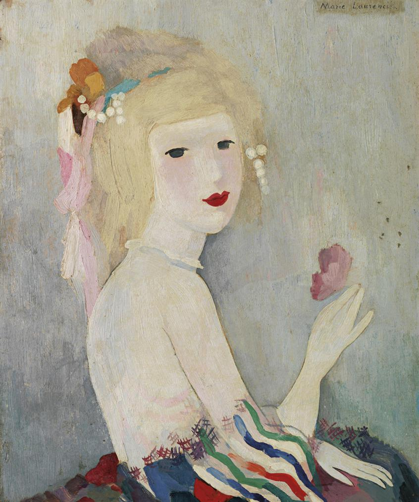 Marie Laurencin-Portrait De Jeune Femme-
