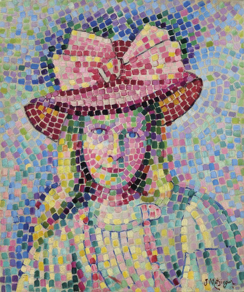 Jean Metzinger-Jeune Fille Au Chapeau Rose-1907