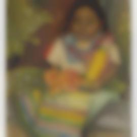 Diego Rivera-Nina Sentada Con Flores-1949