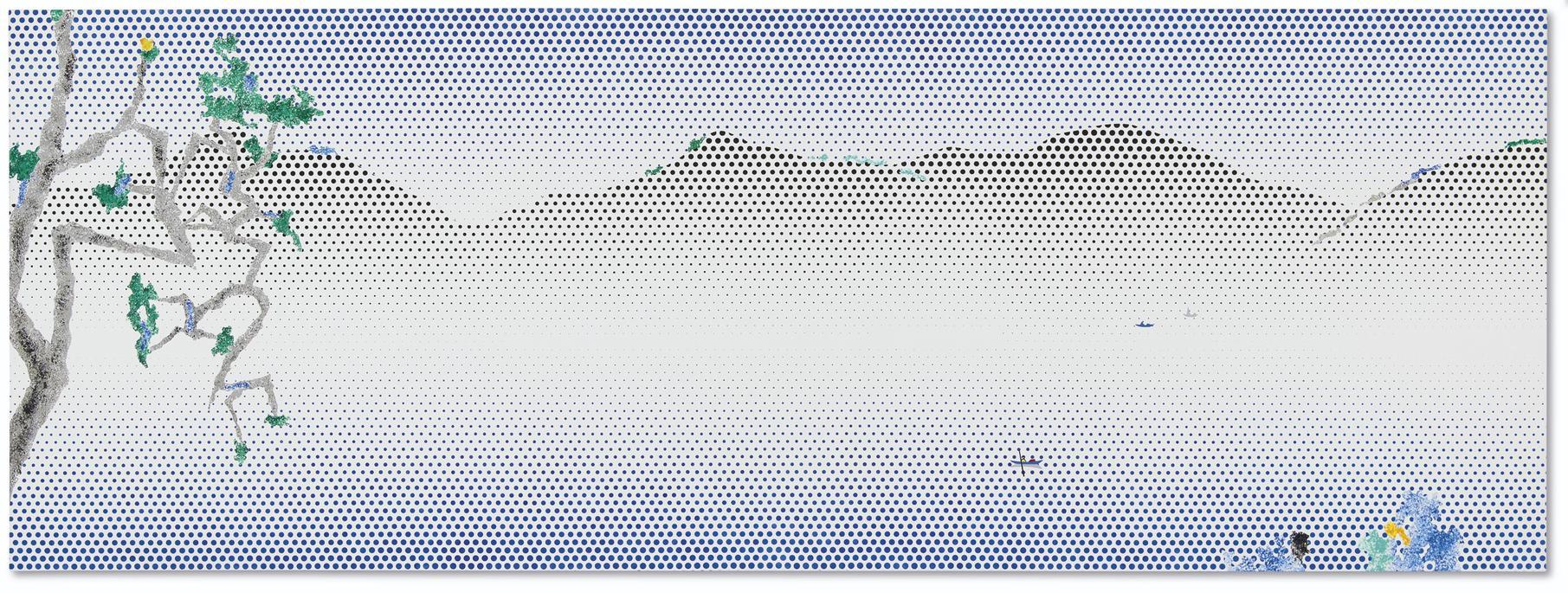 Roy Lichtenstein-Landscape With Boats-1996