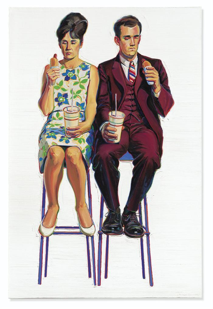 Wayne Thiebaud-Eating Figures (Quick Snack)-1963