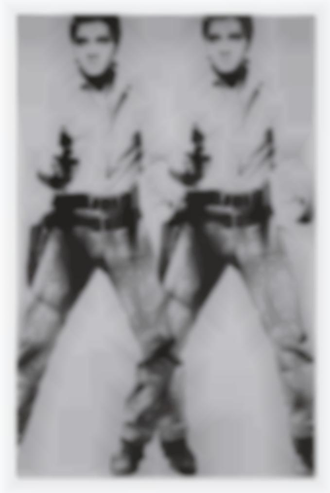 Andy Warhol-Double Elvis [Ferus Type]-1963