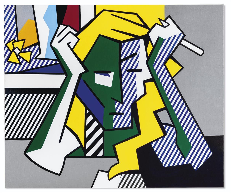 Roy Lichtenstein-Deep In Thought-1980