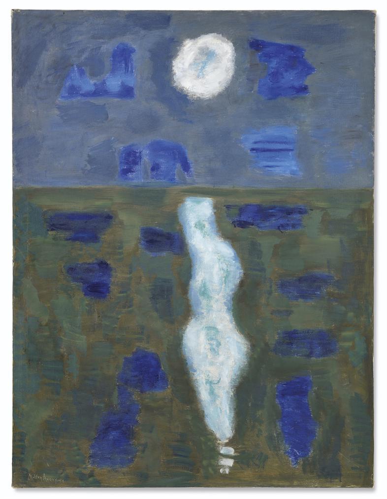 Milton Avery-White Moon-1957