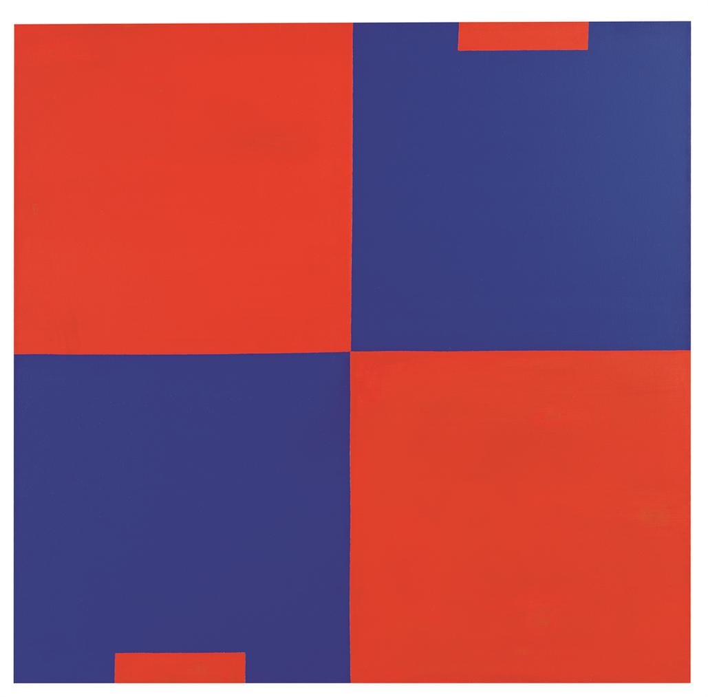 Carmen Herrera-Cadmium Red & Cobalt Blue-1988