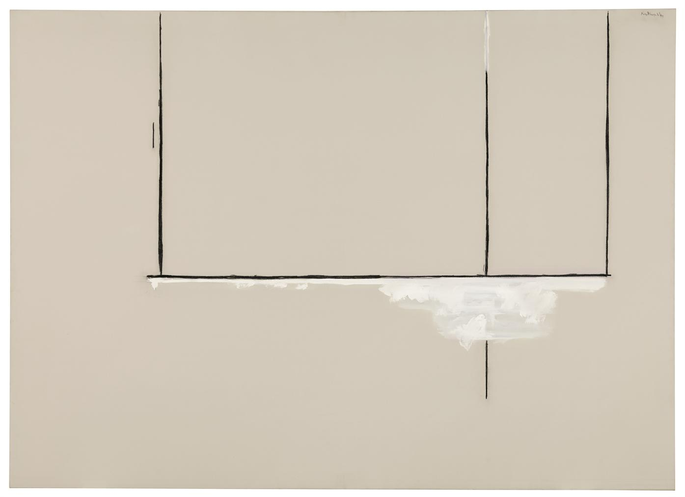 Robert Motherwell-Open White And Black-1969