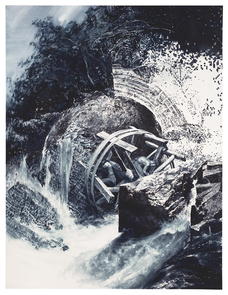 Mark Tansey-Repairing The Wheel-1996