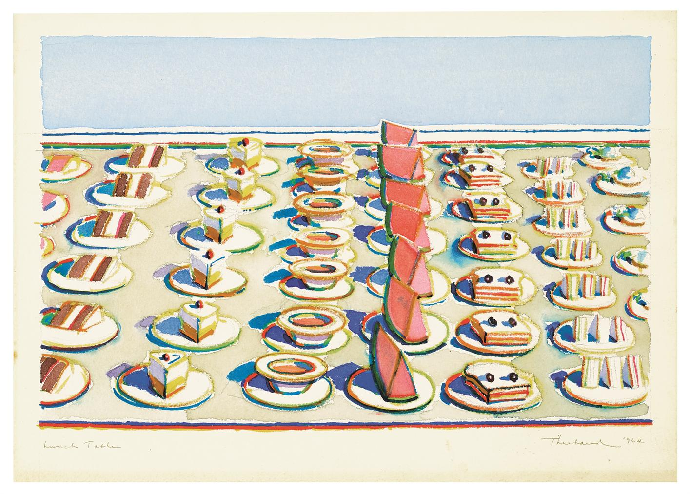 Wayne Thiebaud-Lunch Table-1964