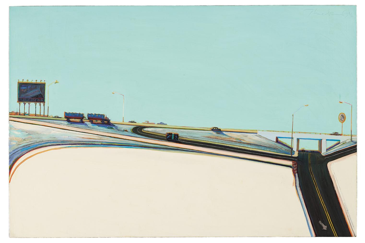 Wayne Thiebaud-Freeway Exit-1986