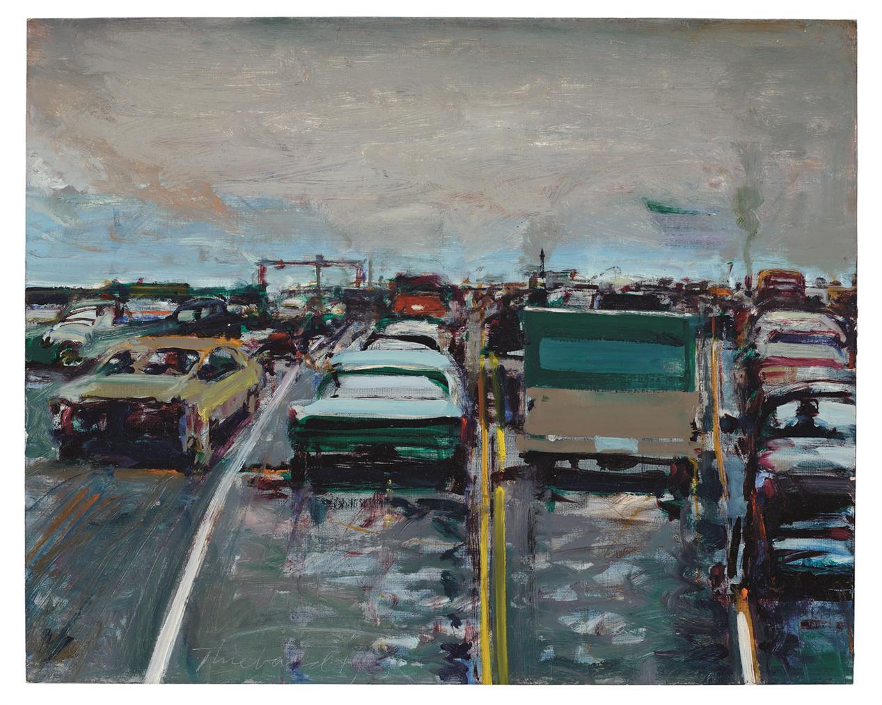 Wayne Thiebaud-Freeway Traffic-1983
