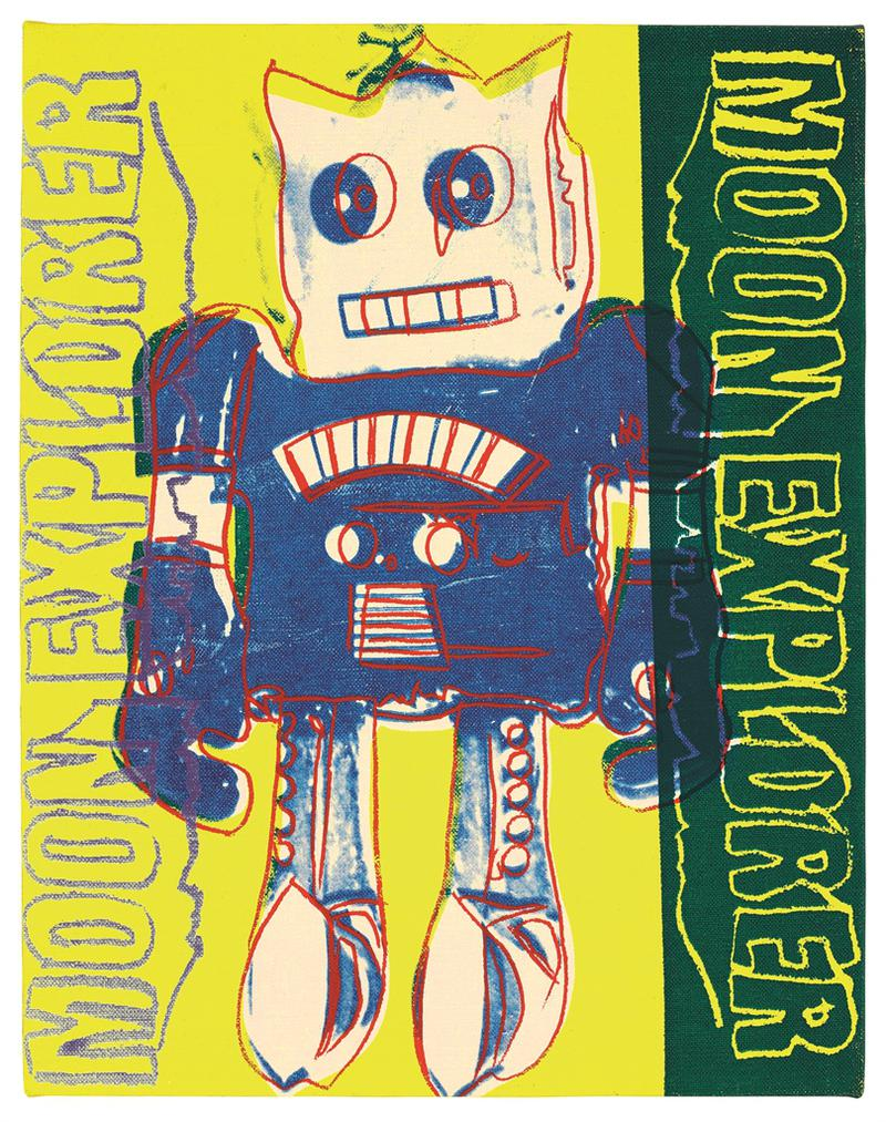 Andy Warhol-Toy Painting, Moon Explorer-1983