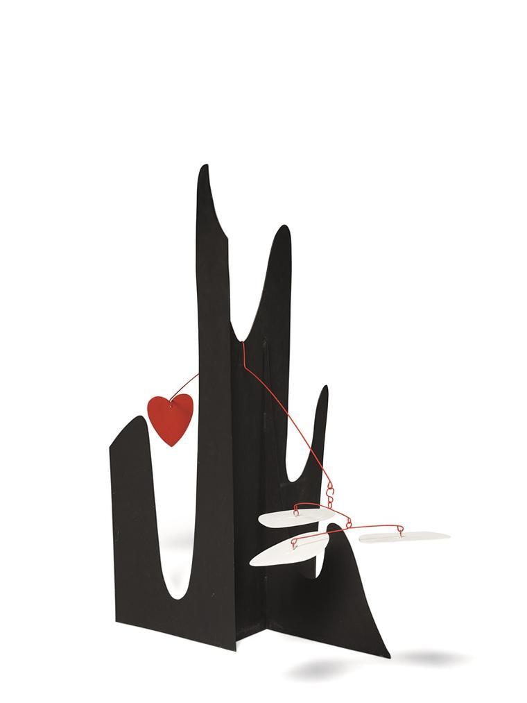 Alexander Calder-Crag With Red Heart-1974