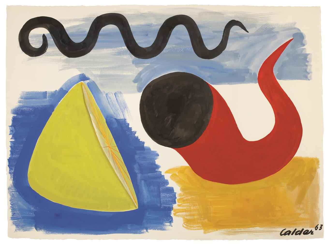 Alexander Calder-Sliced Lemon-1963