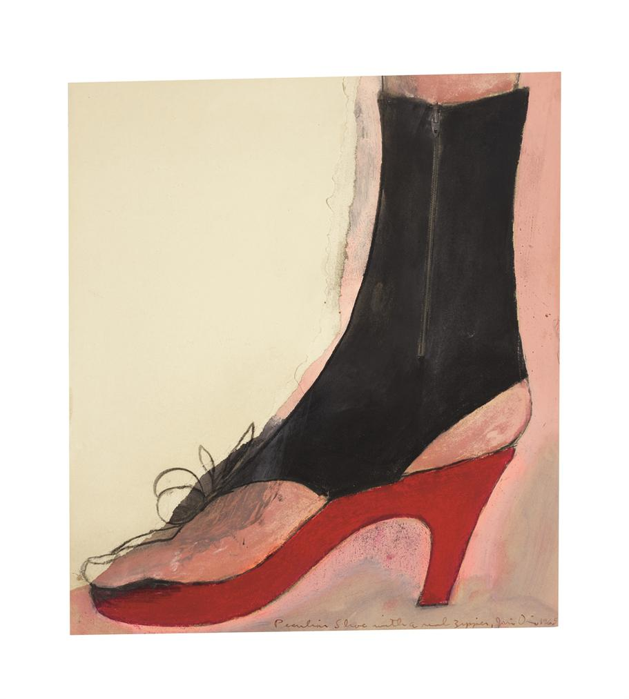 Jim Dine-Peculiar Shoe With A Real Zipper-1965