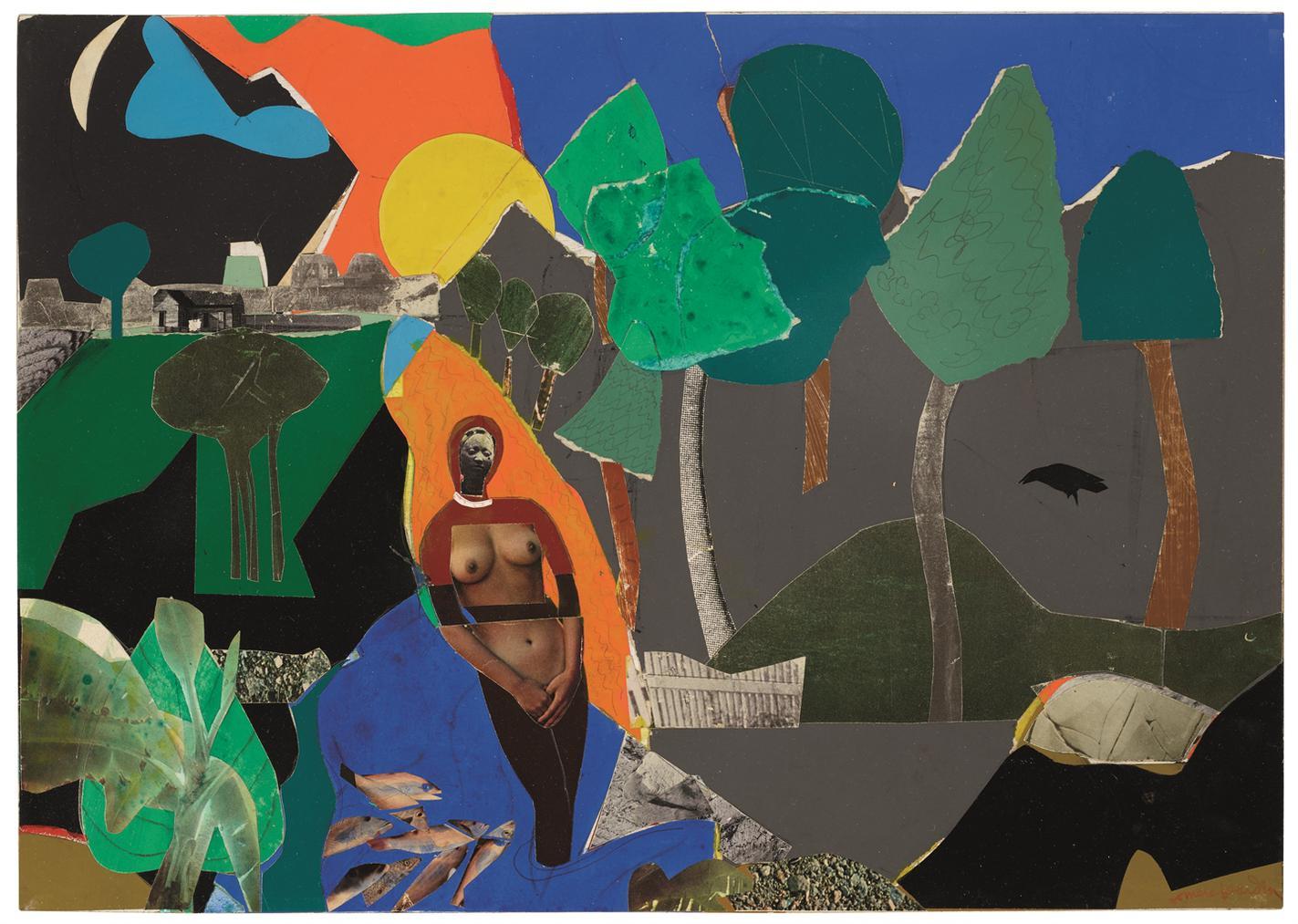 Romare Bearden-Memories-1970