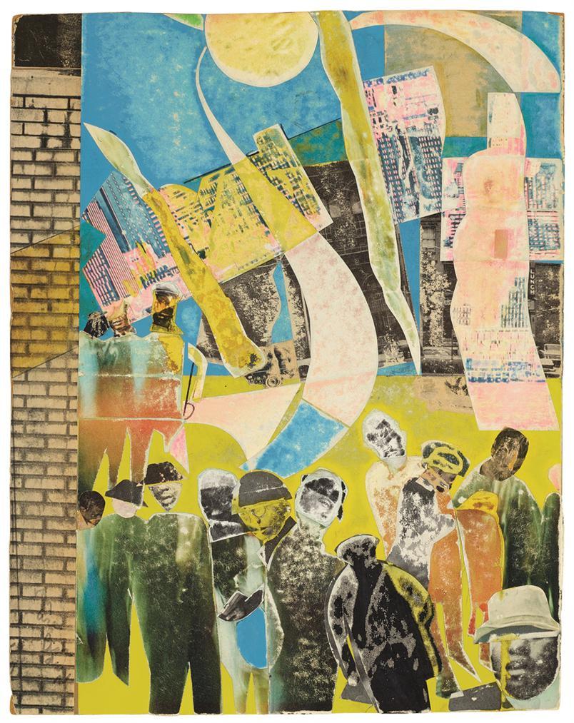 Romare Bearden-City Lights-1970