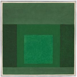Josef Albers-Homage To The Square: Parcelled-1963