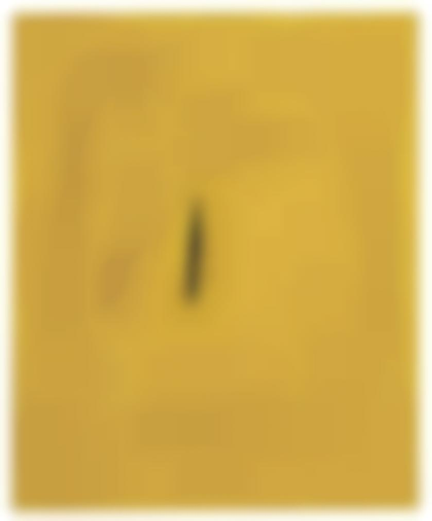 Lucio Fontana-Concetto Spaziale #10: Yellow-1961