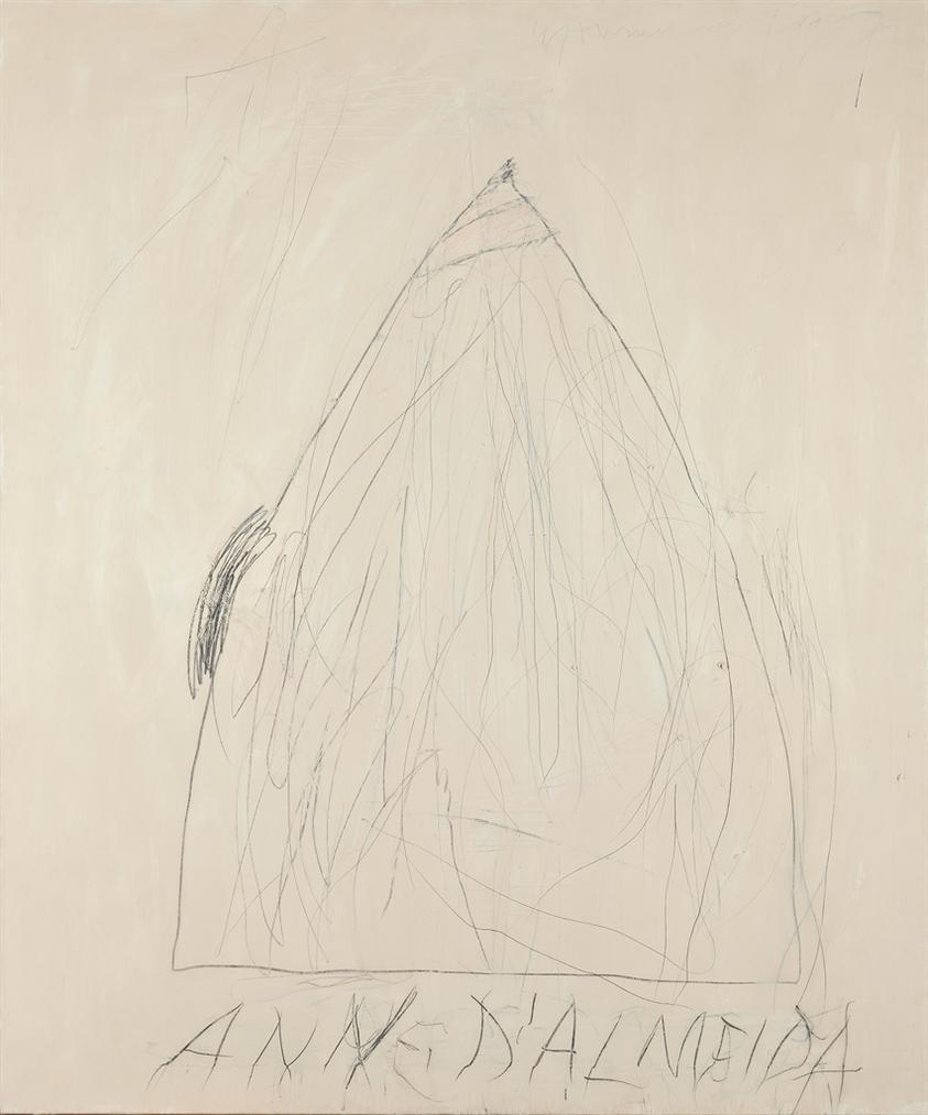 Cy Twombly-Portrait Of Ann Dalmeida-1967