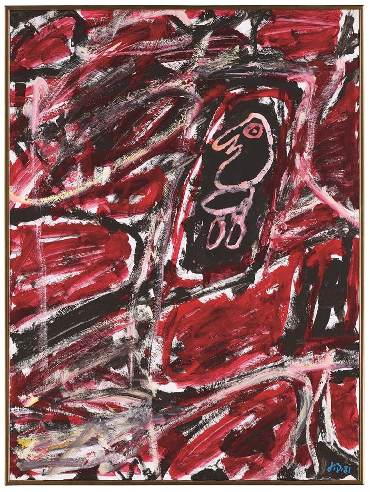 Jean Dubuffet-Site Avec Un Personnage-1981