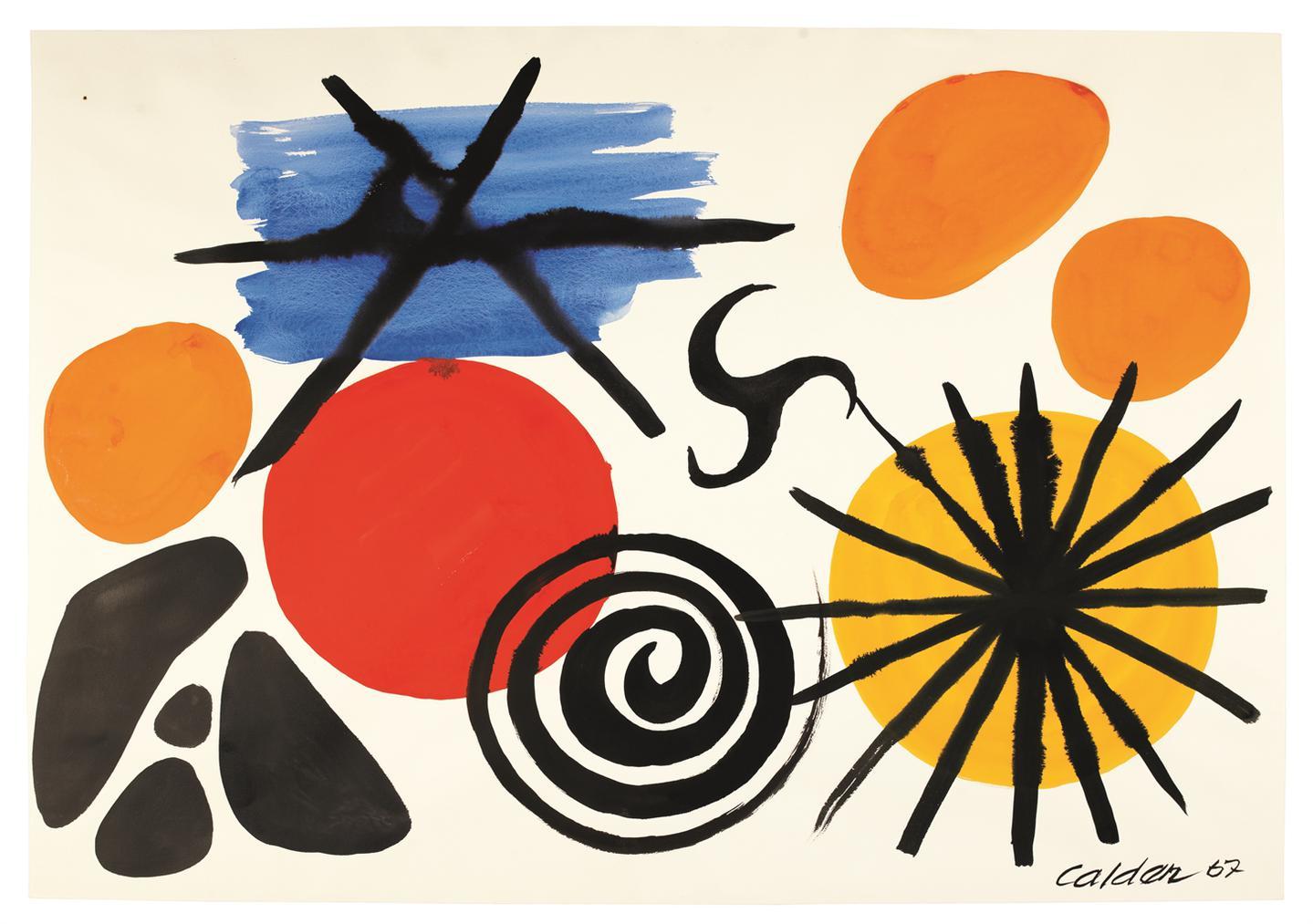 Alexander Calder-Propeller In The Center-1967