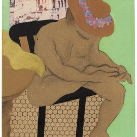 Tom Wesselmann-Judy Trimming Toenails (Green Wall)-1960