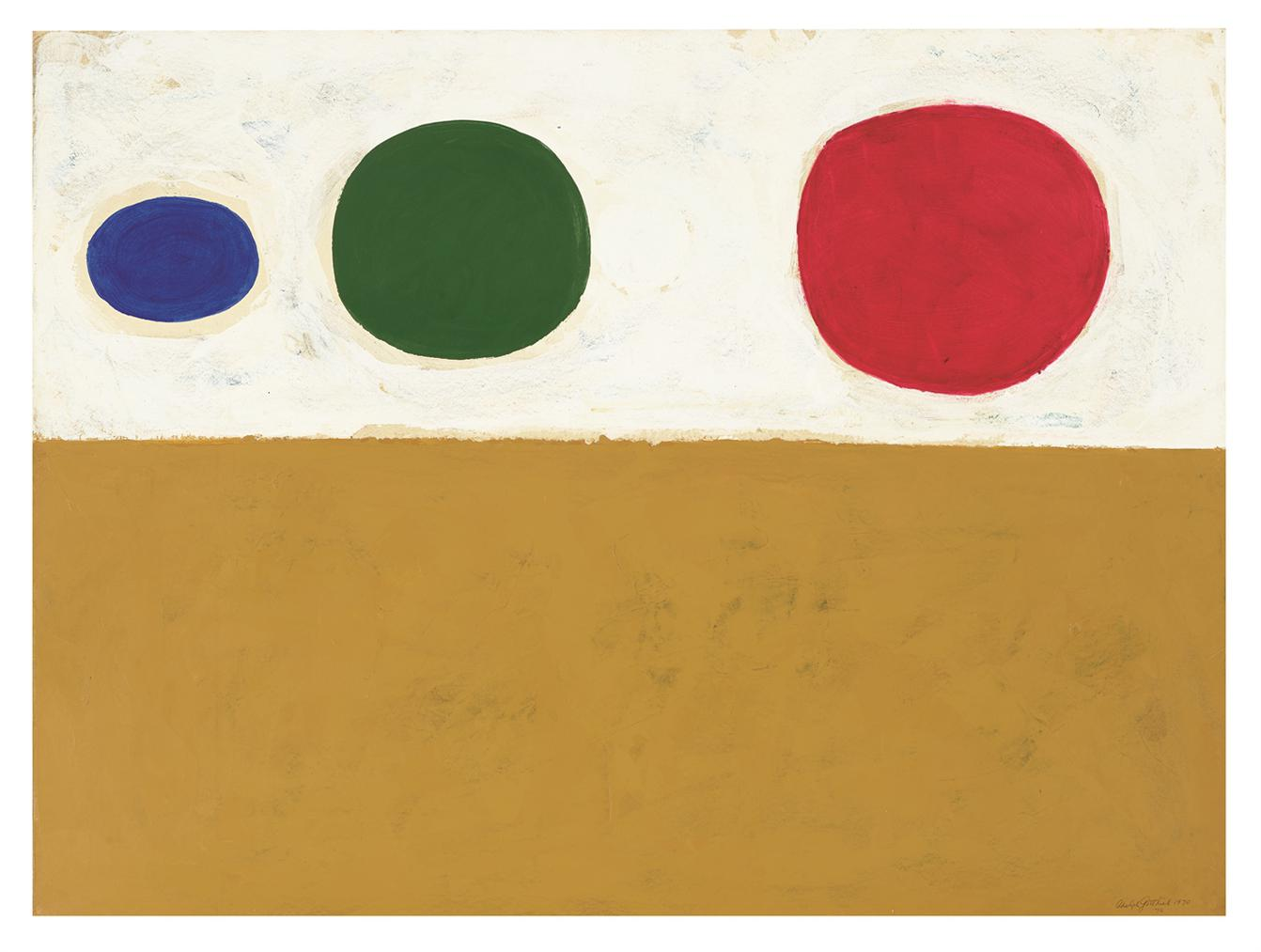Adolph Gottlieb-Yellow Ochre-1970