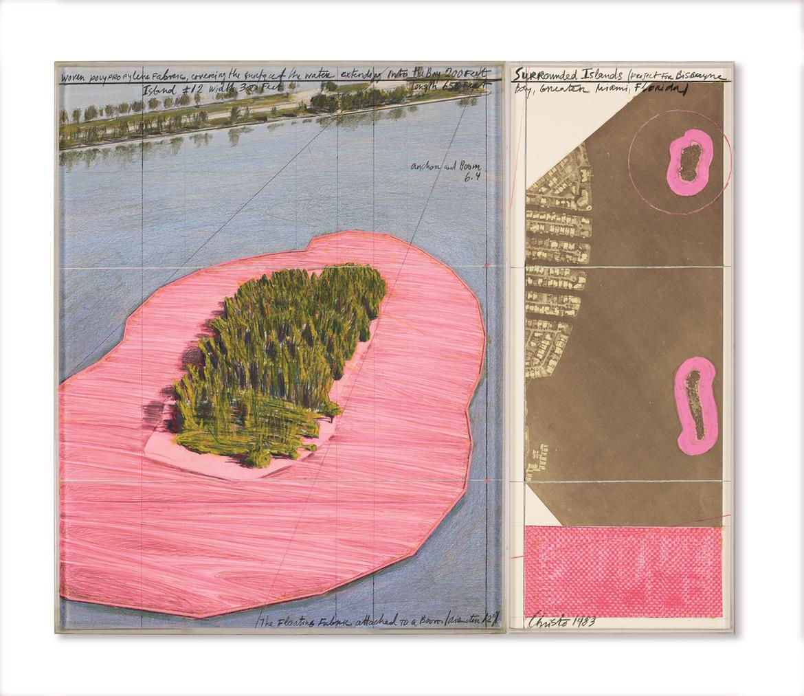 Christo and Jeanne-Claude-Surrounded Islands (Project For Biscayne Bay, Greater Miami, Florida)-1983