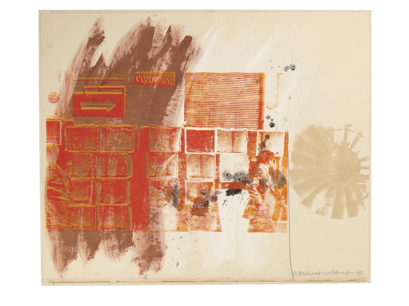 Robert Rauschenberg-Red Spinner-1990