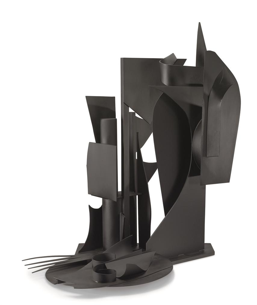 Louise Nevelson-Maquette For Sun Disc/Moon Shadow V-1979