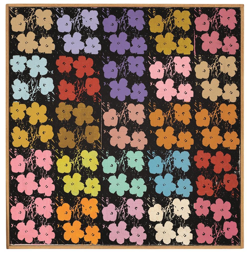 Richard Pettibone-Andy Warhol, 25 Flowers #4-1971