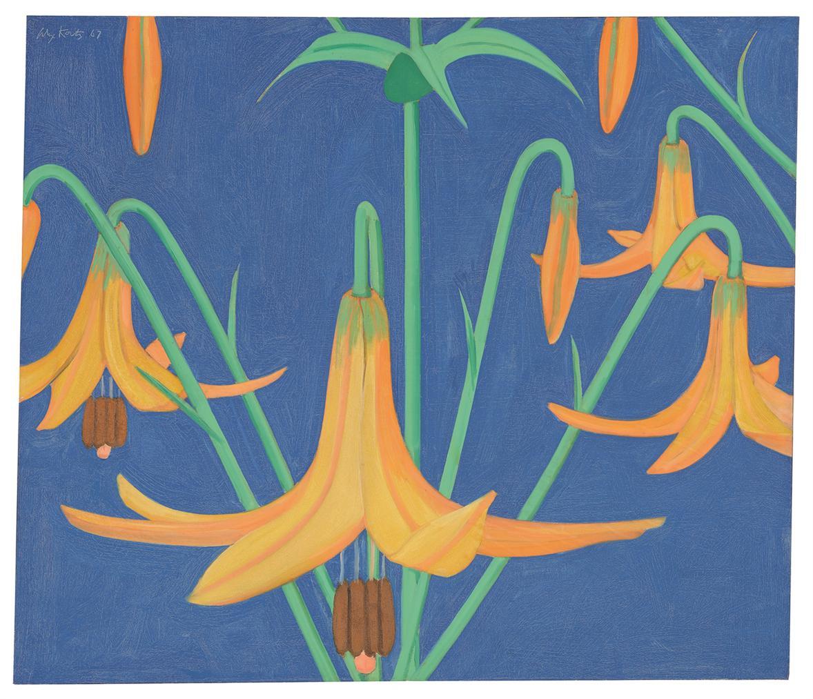 Alex Katz-Marsh Lilies-1967