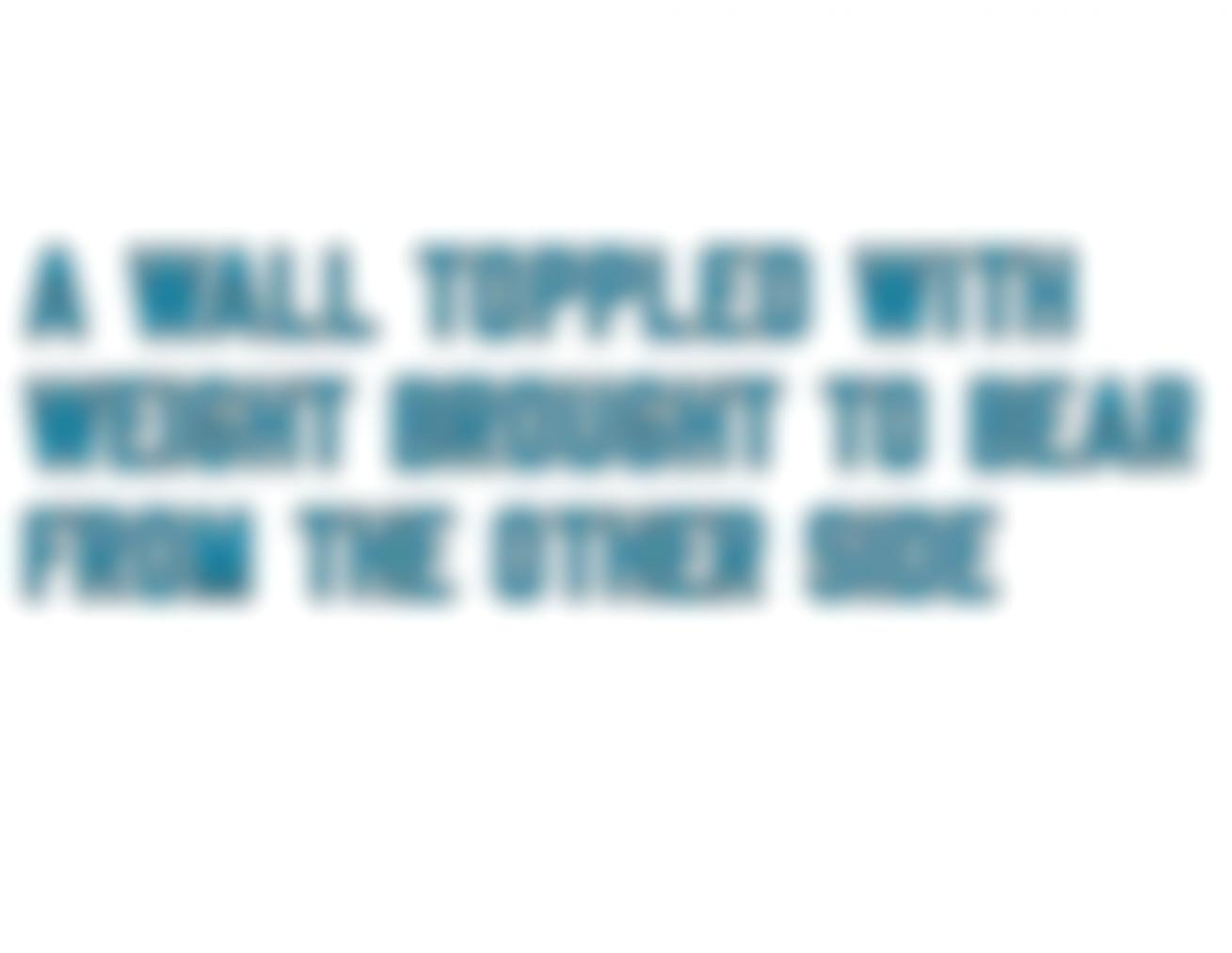 Lawrence Weiner-A Wall Toppled With Weight Brought To Bear From The Other Side-1984