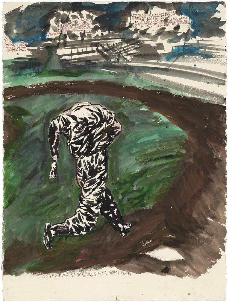 Raymond Pettibon-No Title (Whoa...Closed My...)-2003