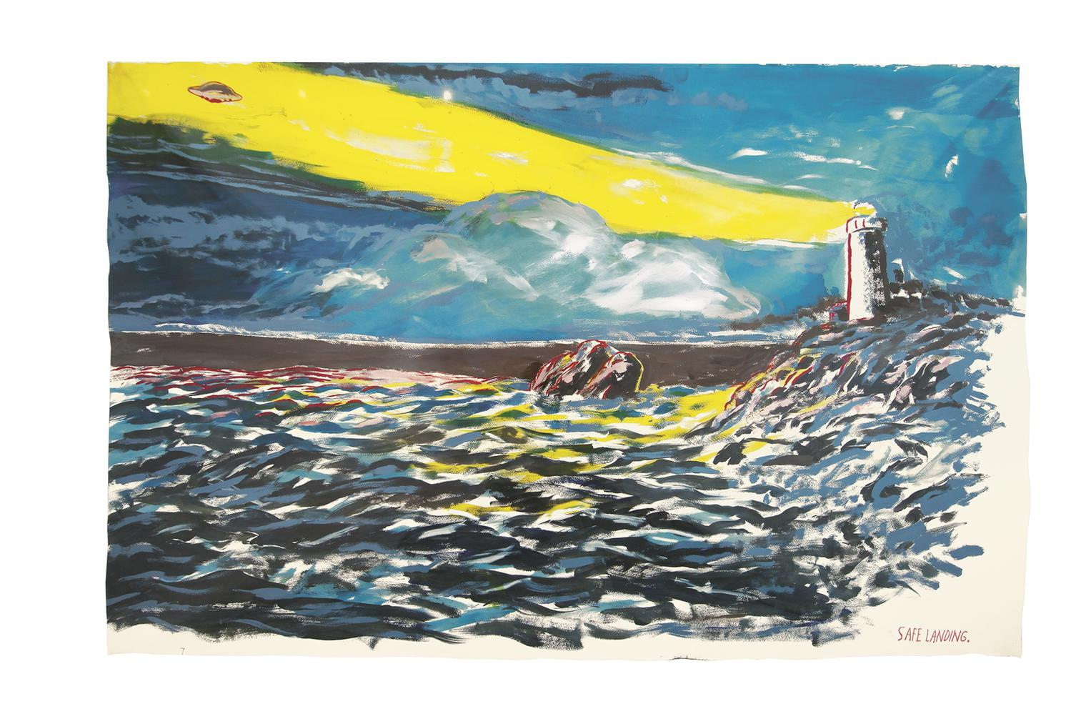 Raymond Pettibon-No Title (Safe Landing...)-2014