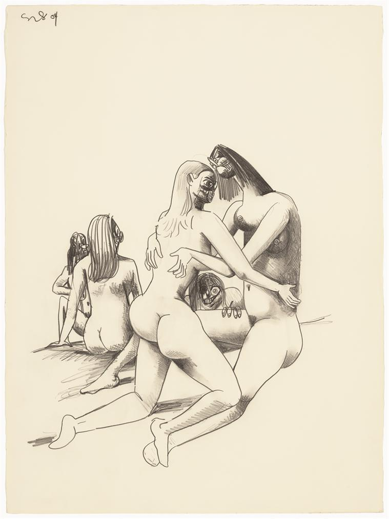 George Condo-Orgy Composition-2004