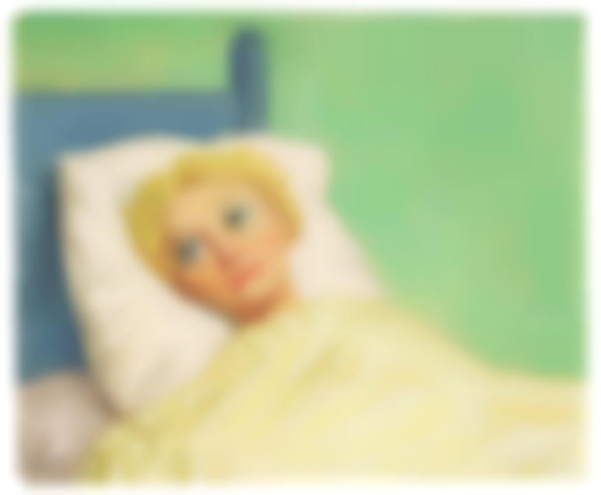 John Currin-Girl In Bed-1993