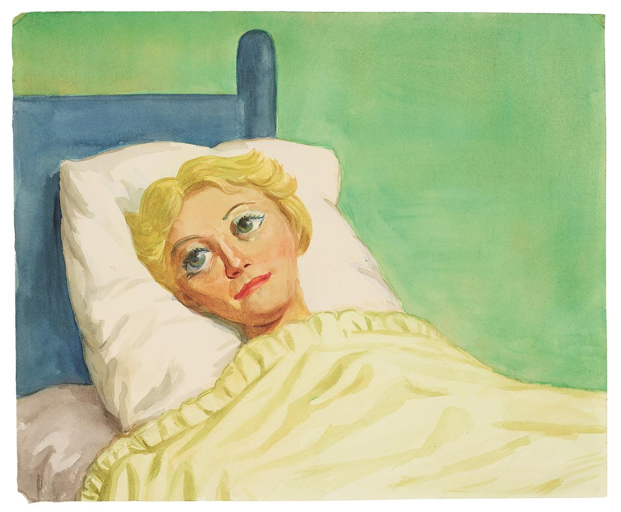 John Currin-Girl In Bed-1993
