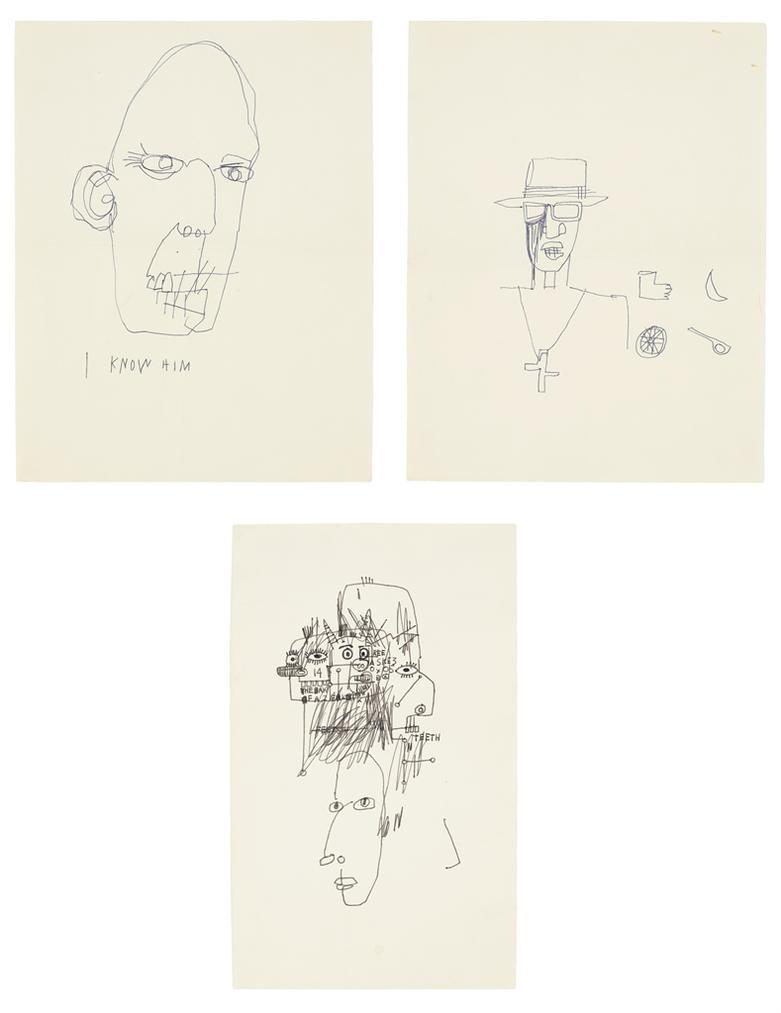 Jean-Michel Basquiat-Untitled; Untitled; Untitled-1981