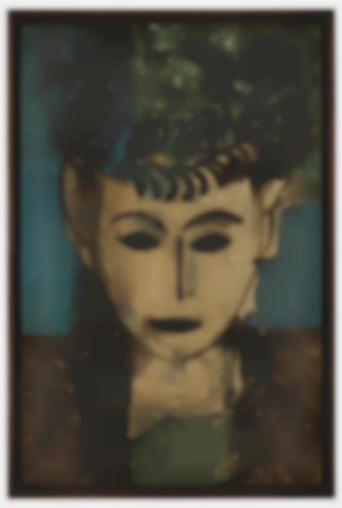 Manolo Valdes-Retrato Con Adornos En El Sombrero-1997
