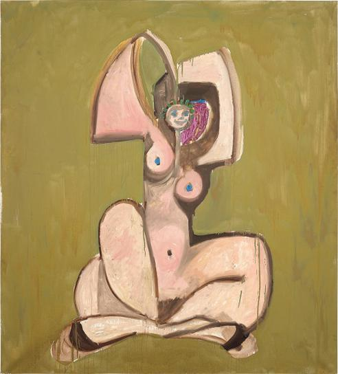George Condo-Gold Nude-1989