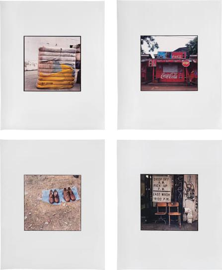 Zoe Leonard-Four Works: (I) Yellow, Pink, Blue Bundle; (II) Coca Cola Shack; (III) Two Pairs; (IV) Drop Off A.M. Pick Up P.M.-2006