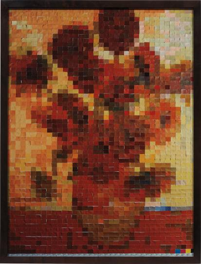 Vik Muniz-After Van Gogh From Pictures Of Color-2001