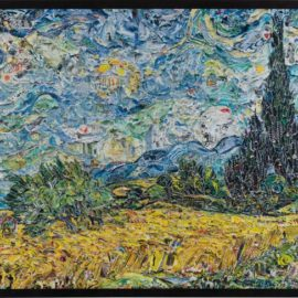 Vik Muniz-Wheat Field With Cypresses, After Van Gogh From Pictures Of Magazines 2-2011