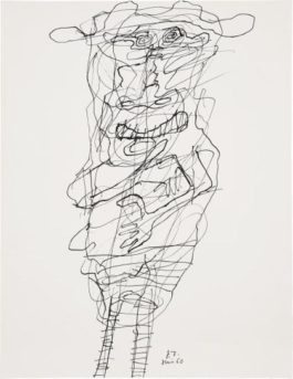 Jean Dubuffet-Personnage (No. 27)-1960