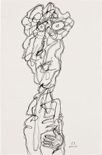 Jean Dubuffet-Personnage (P. 14)-1960